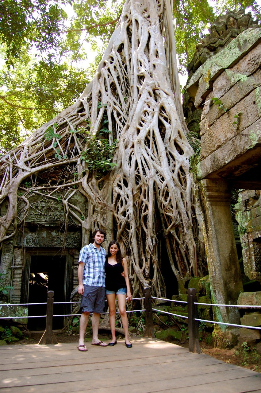 best time to visit Angkor Wat: Kia and Peter