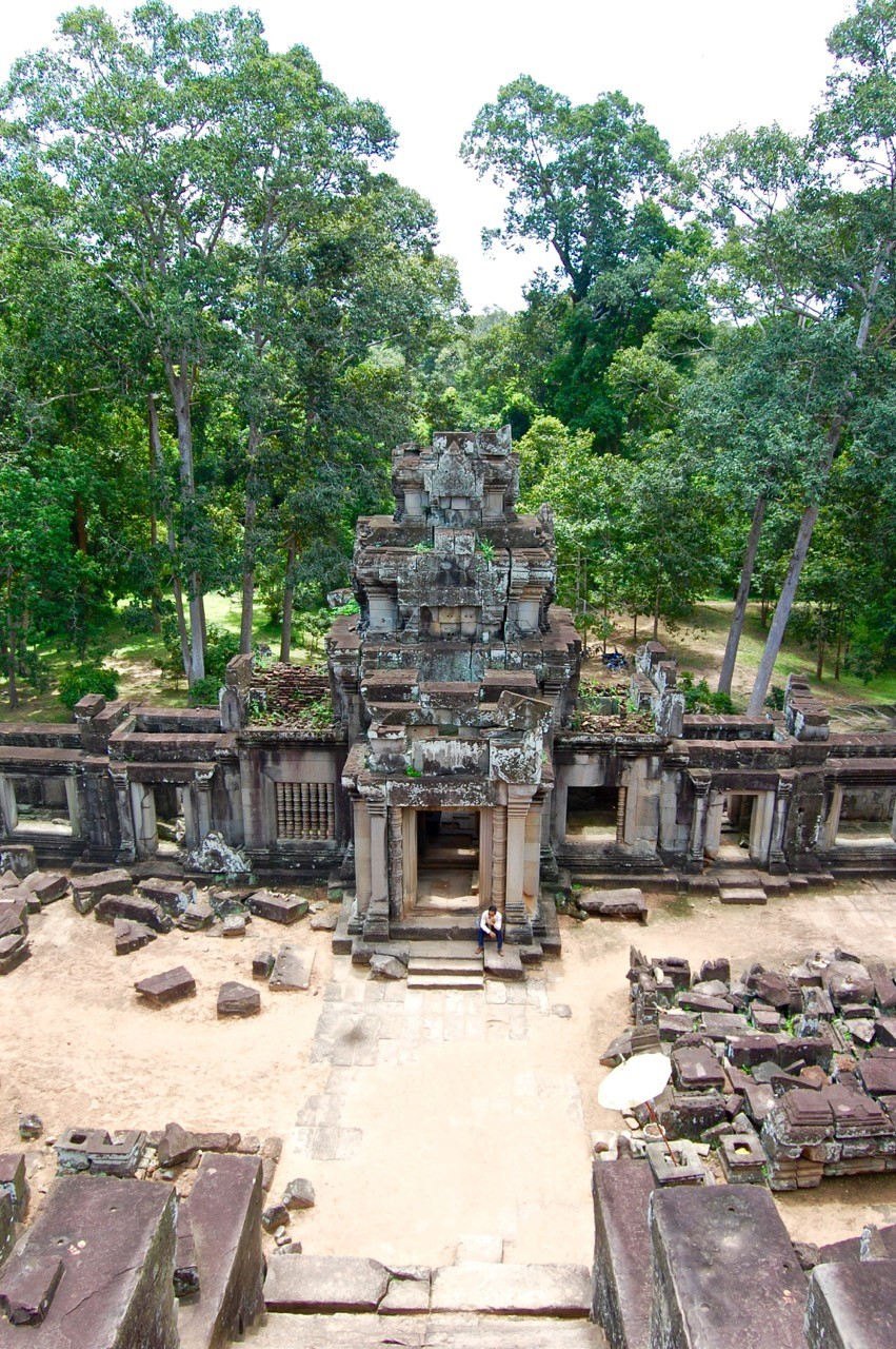 best time to visit Angkor Wat: aerial view