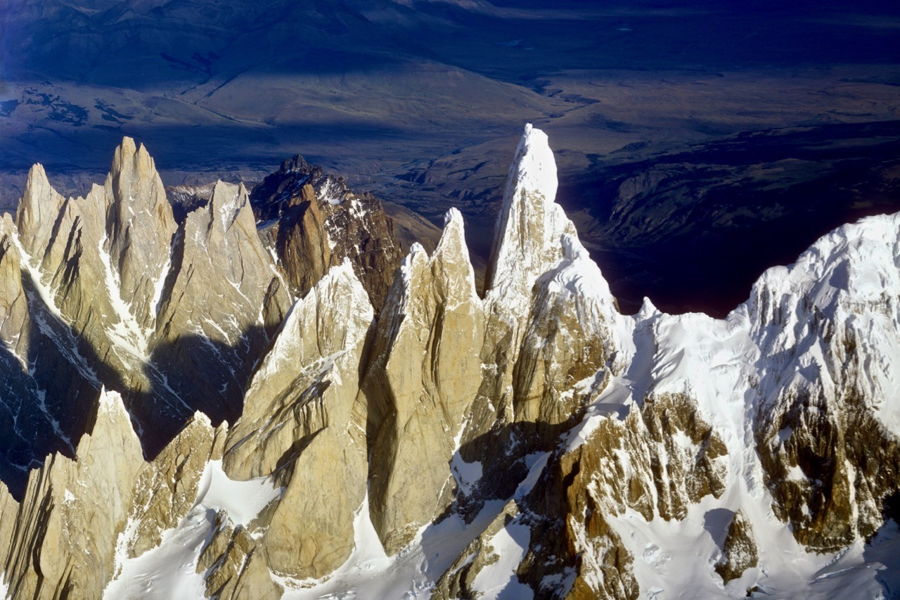 The distinctive towers of Fitz Roy and Cerro Torre