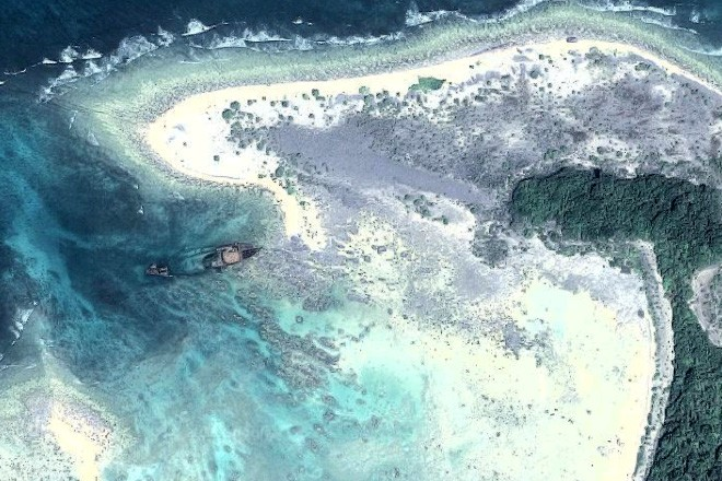 Primrose wreck by North Sentinel Island