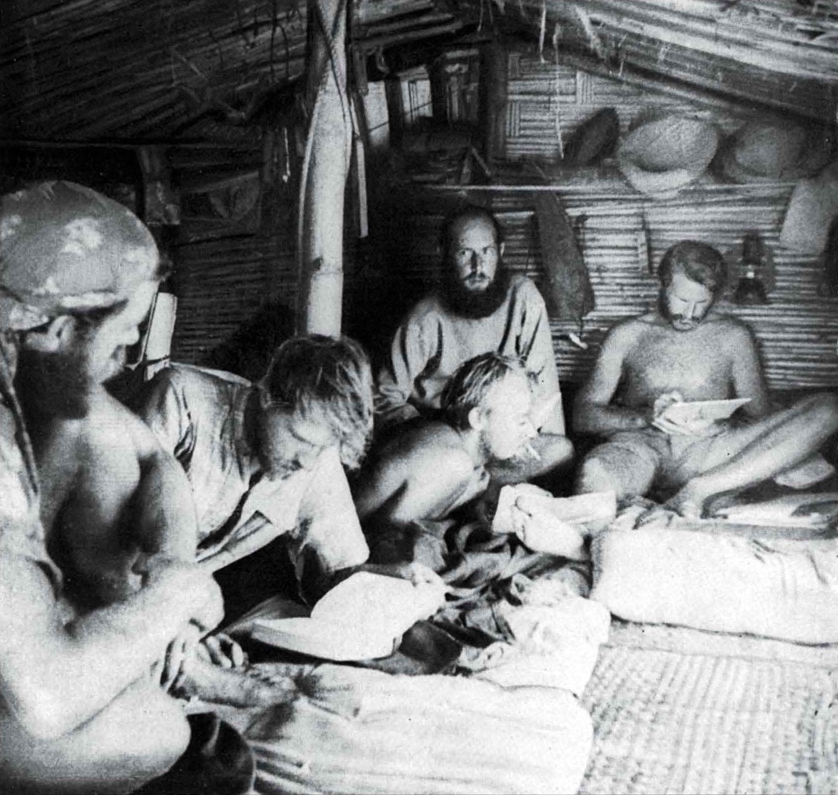 Kon Tiki: Inside the bamboo cabin