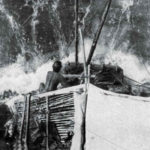 Kon Tiki navigates a wave