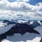 Climbing Galdhøpiggen in Jotunheimen National Park Norway - summit