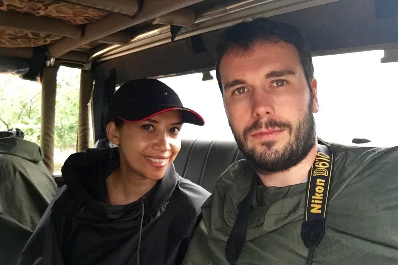 In waterproof ponchos at Yala National Park