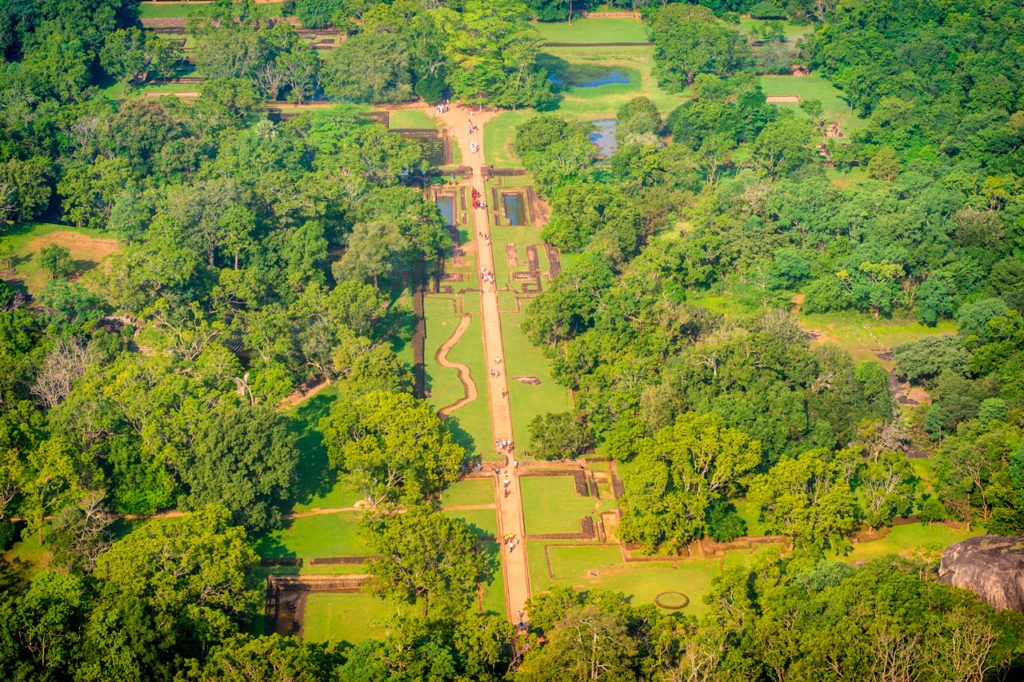 The extensive grounds at Sigiriya Rock Fortress
