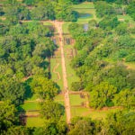 The extensive grounds at Sigiriya Rock Fortress