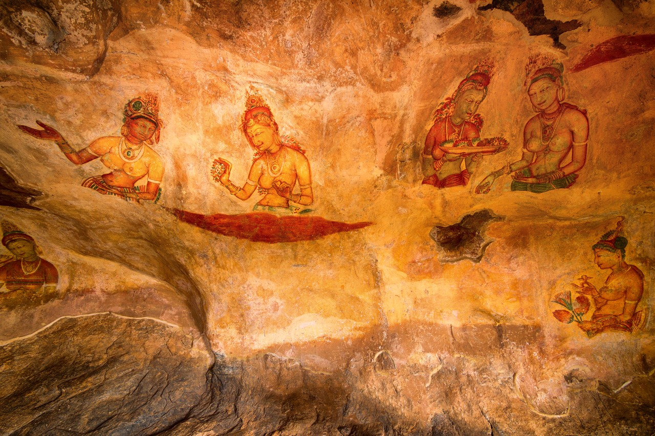 Gallery at Sigiriya Rock Fortress