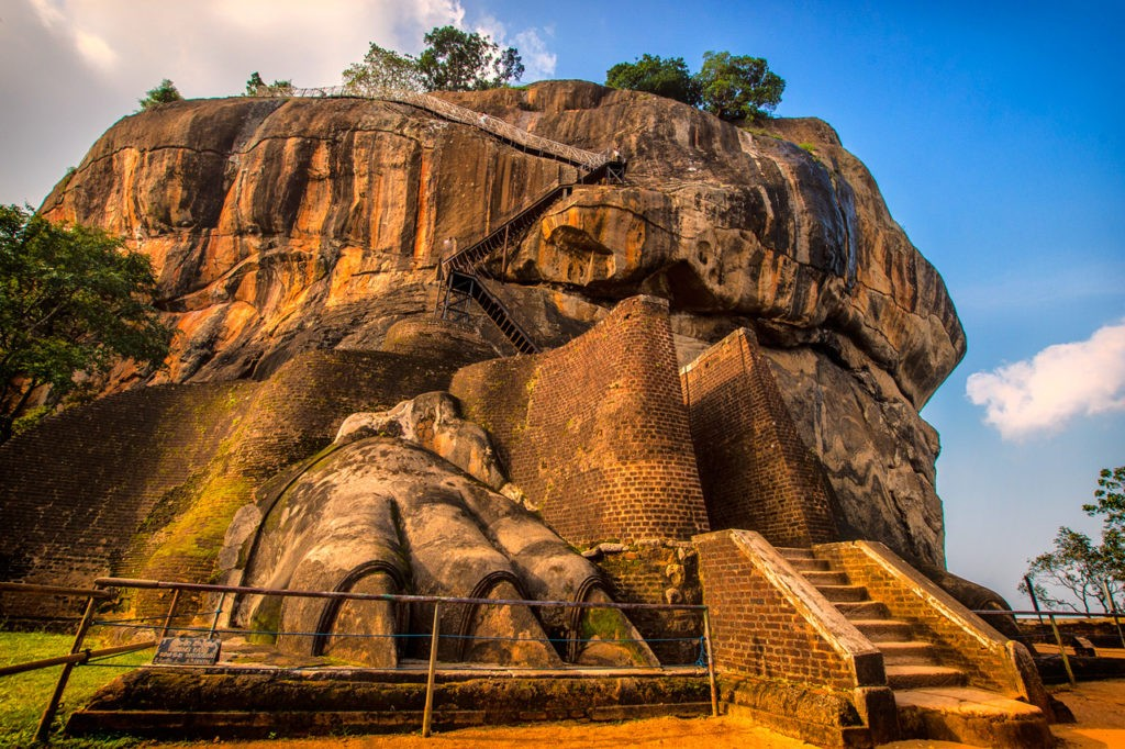Lion's paws at Sigiriya Rock Fortress