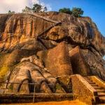 Lion's paws at Sigiriya Rock Fortress