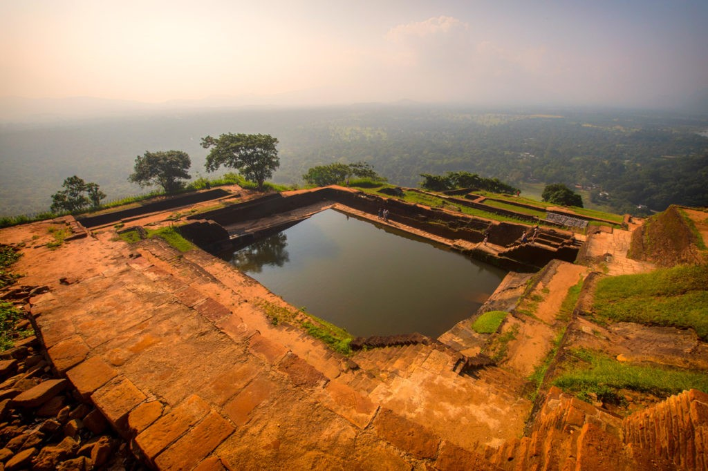 View of pool at Sigiriya Rock Fortress