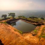 View of pool at Sigiriya Rock Fortress