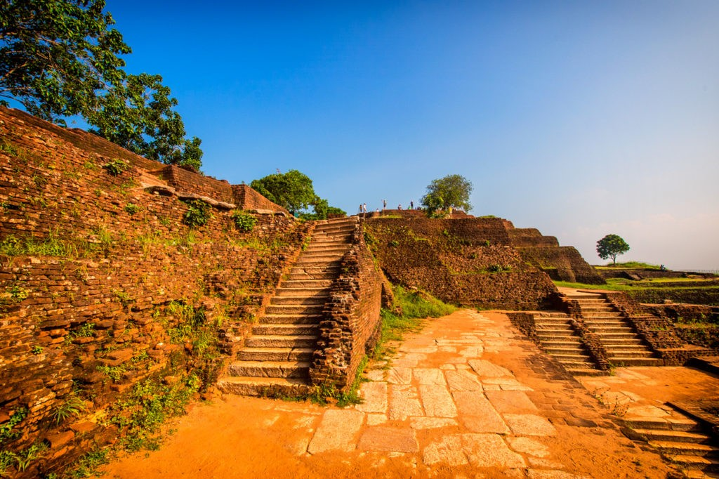Stairs at Sigiriya Rock Fortress