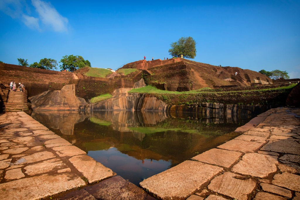 Calm pool at Sigiriya Rock Fortress