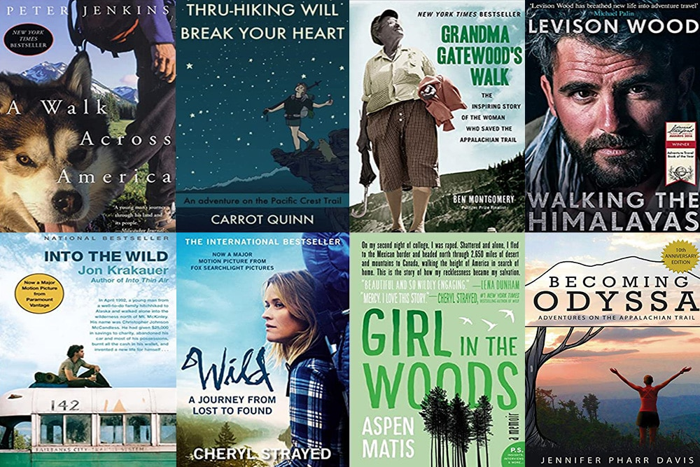books about hiking montage of covers 1