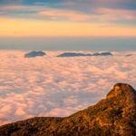 Clouds of carpet after climbing Adam's Peak