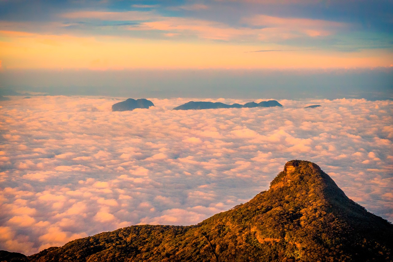 A view of clouds after climbing Adam's Peak