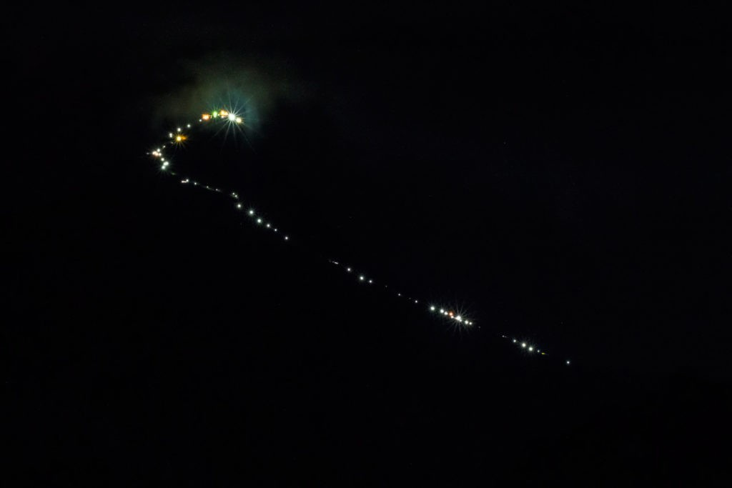 climbing adam's peak lit with tea lights
