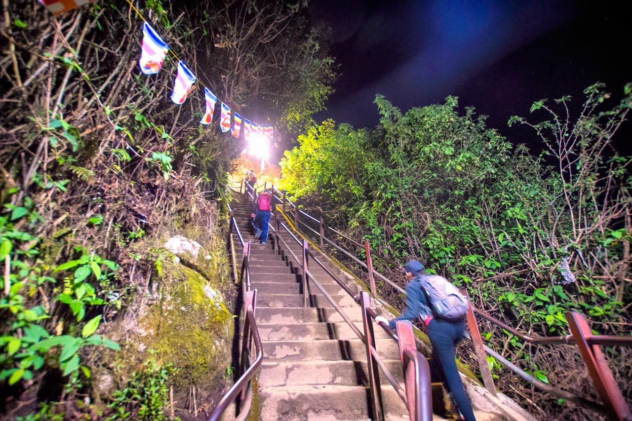 Stairs while climbing Adam's Peak