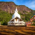 Pagoda seen while climbing Adam's Peak