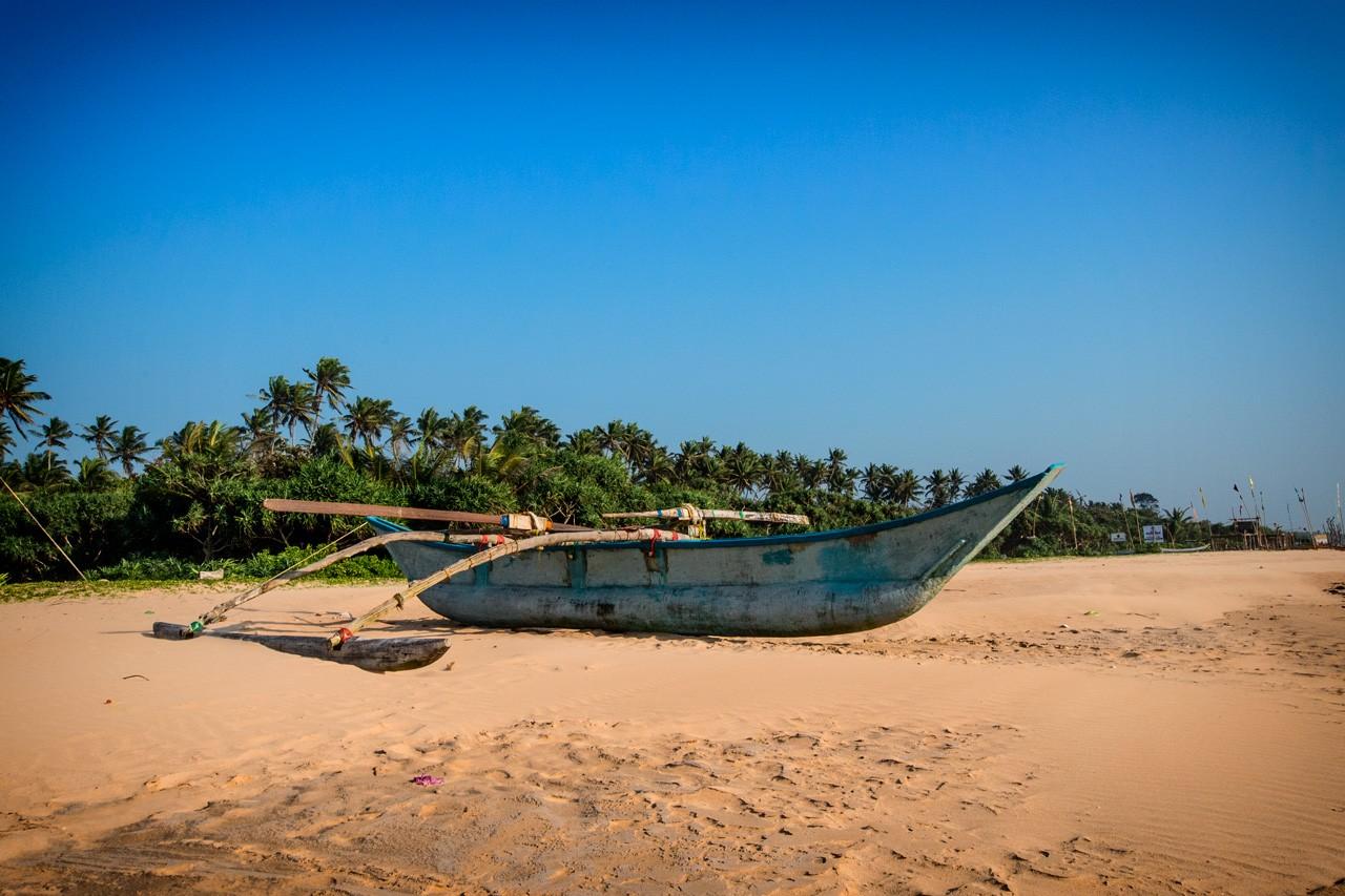 A boat on Bentota beach