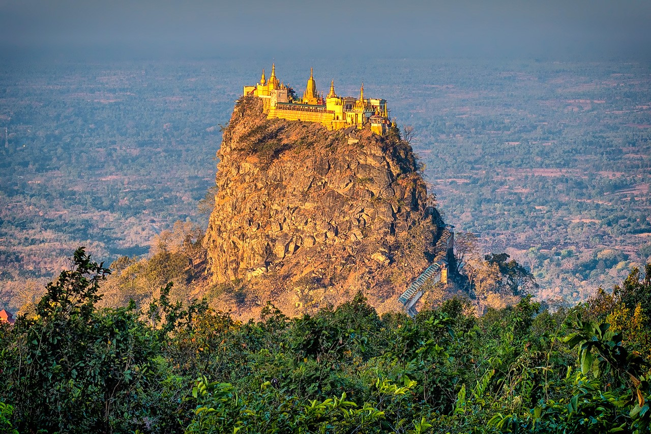 Taung Kalat seen from Mount Popa