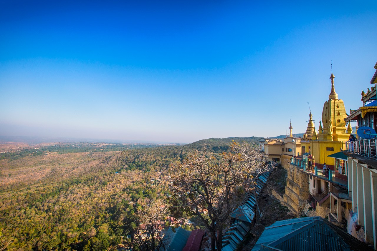 View from Taung Kalat at Mount Popa