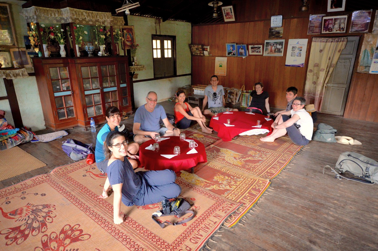 Pausing for lunch on the way to Yazakyi monastery