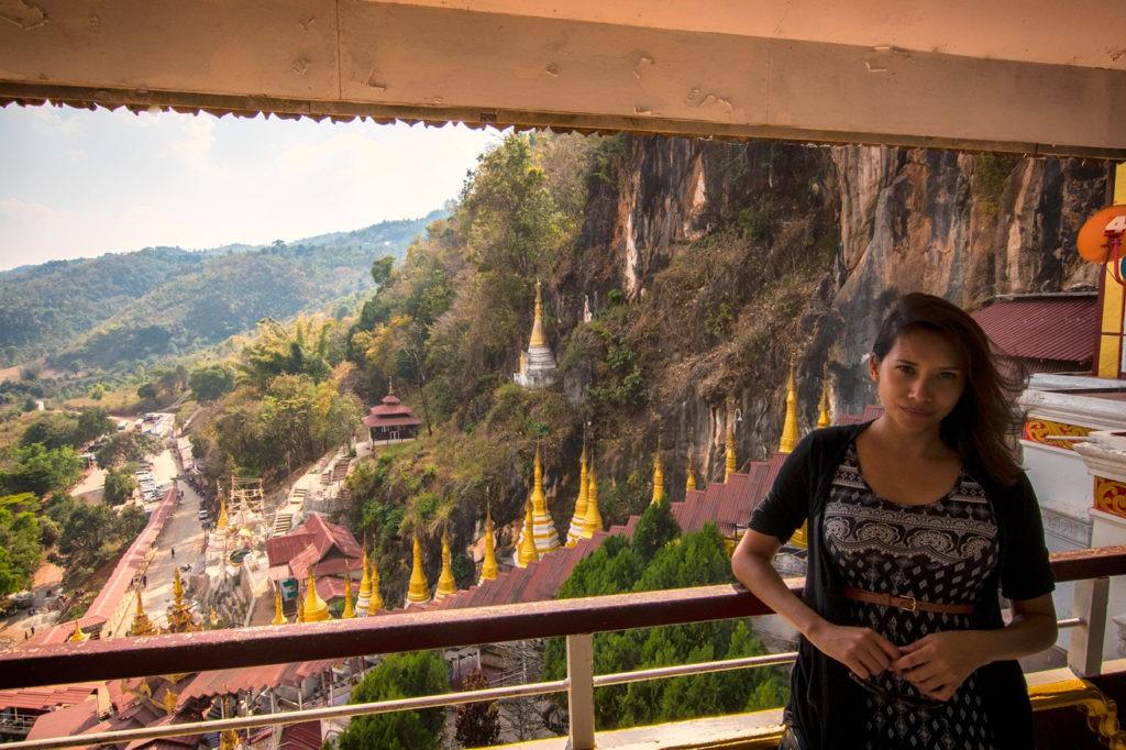 Kia at the Pindaya Caves