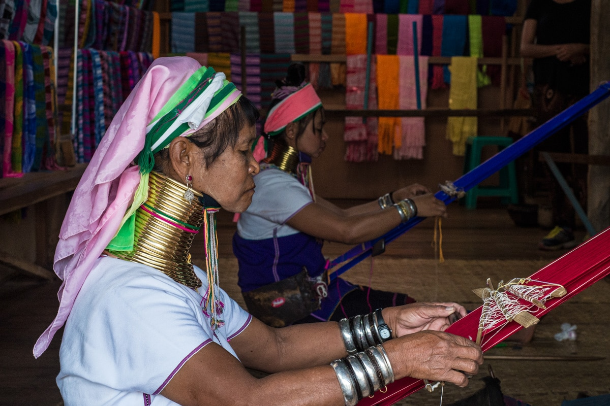 he 'long-neck' Kayan women of Inle Lake
