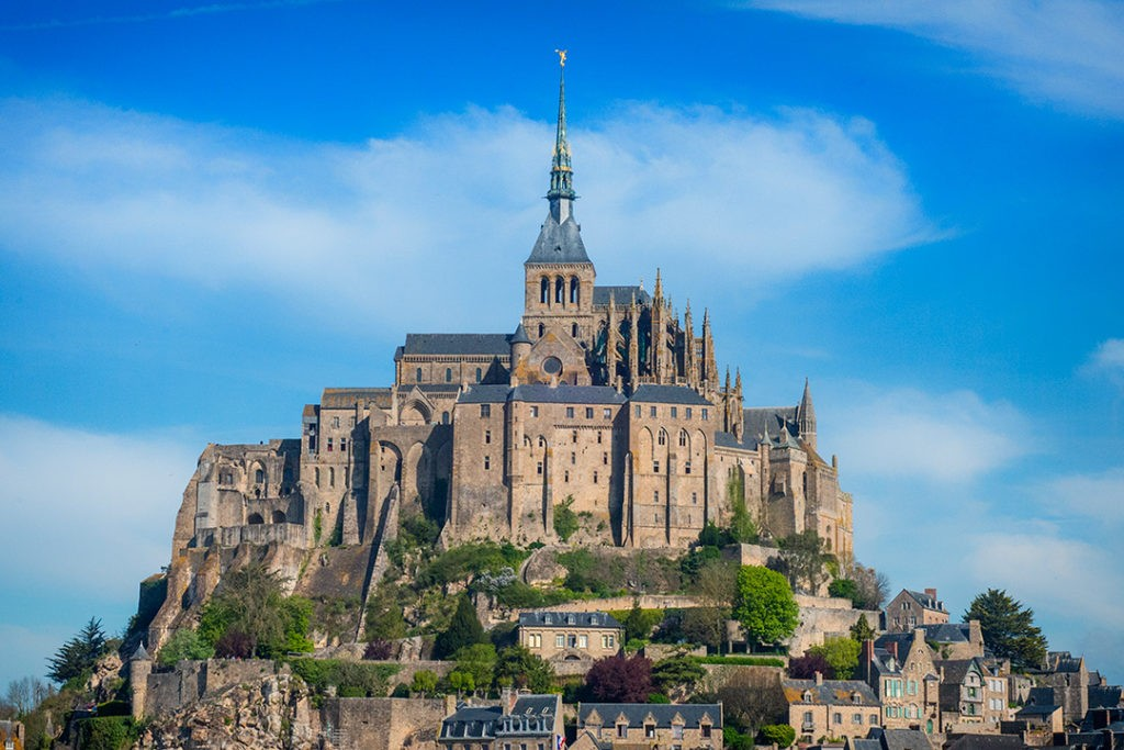 Mont Saint-Michel, Normandy's abbey on a rock in a bay