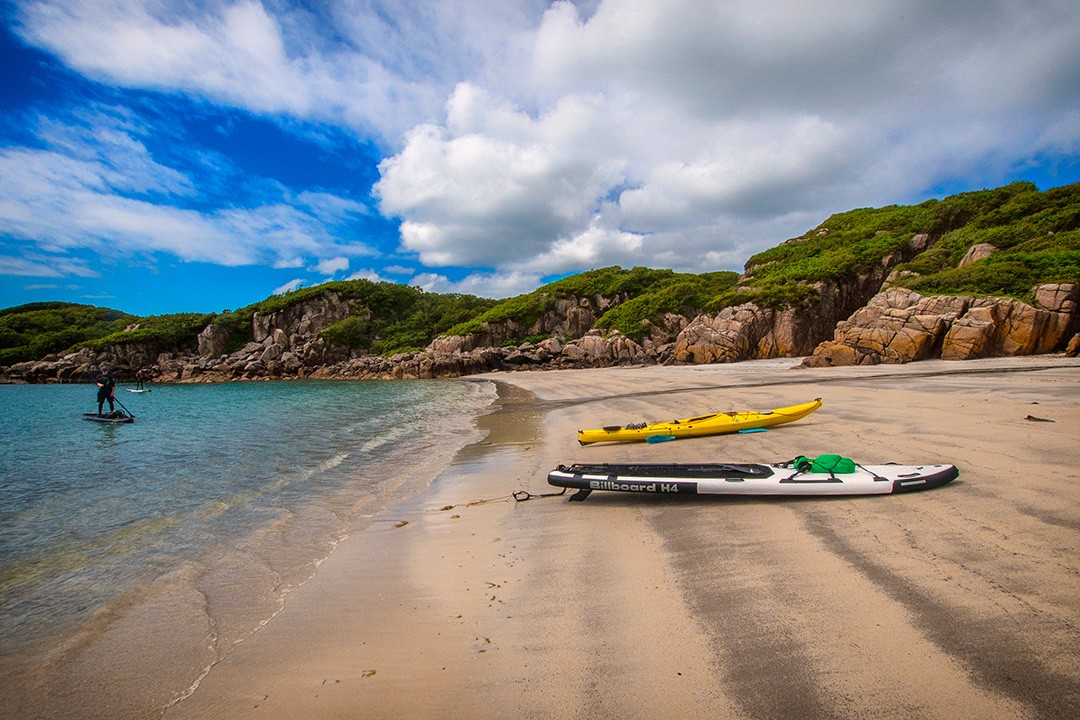 Learning to paddleboard Scotland lead image of beach