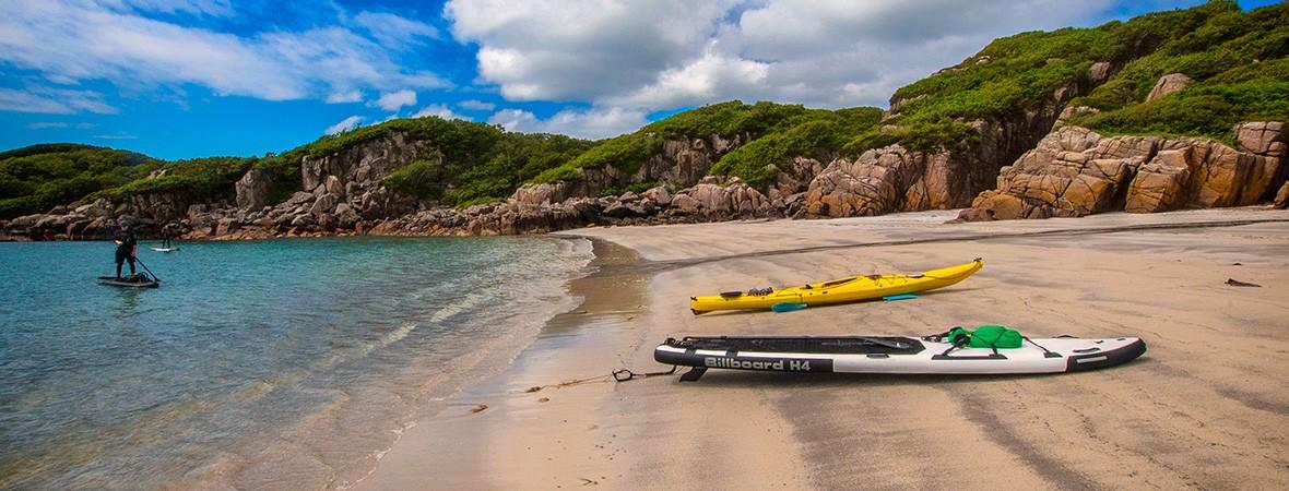 Learning to paddleboard Scotland featimg
