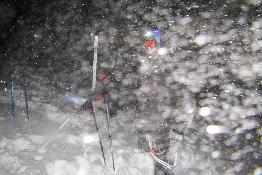 climbing mount elbrus-whiteout