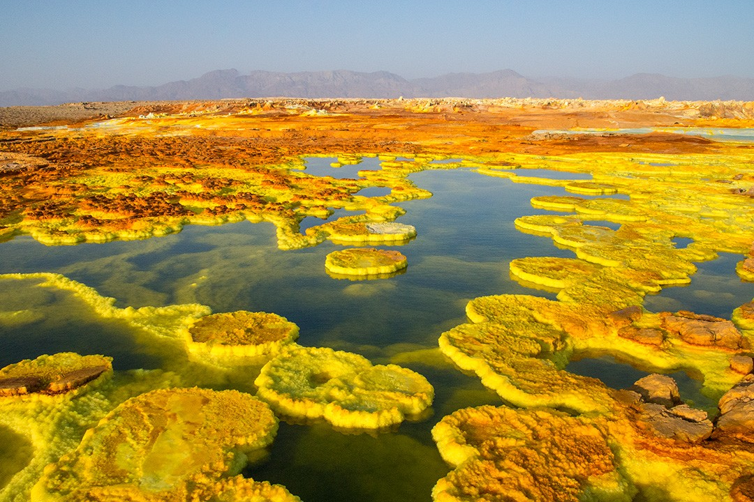 Dallol is one of the hottest and lowest places on Earth