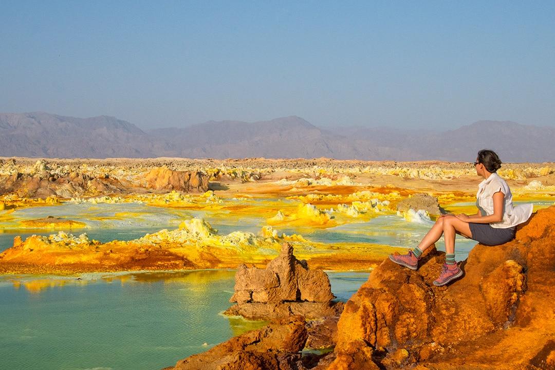 Alien landscape at Dallol in Ethiopia