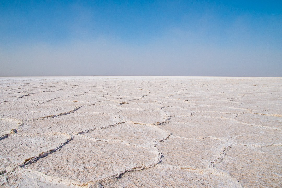 Salt flats of Lake Asale