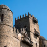 The battlemented parapet of Gondar castle