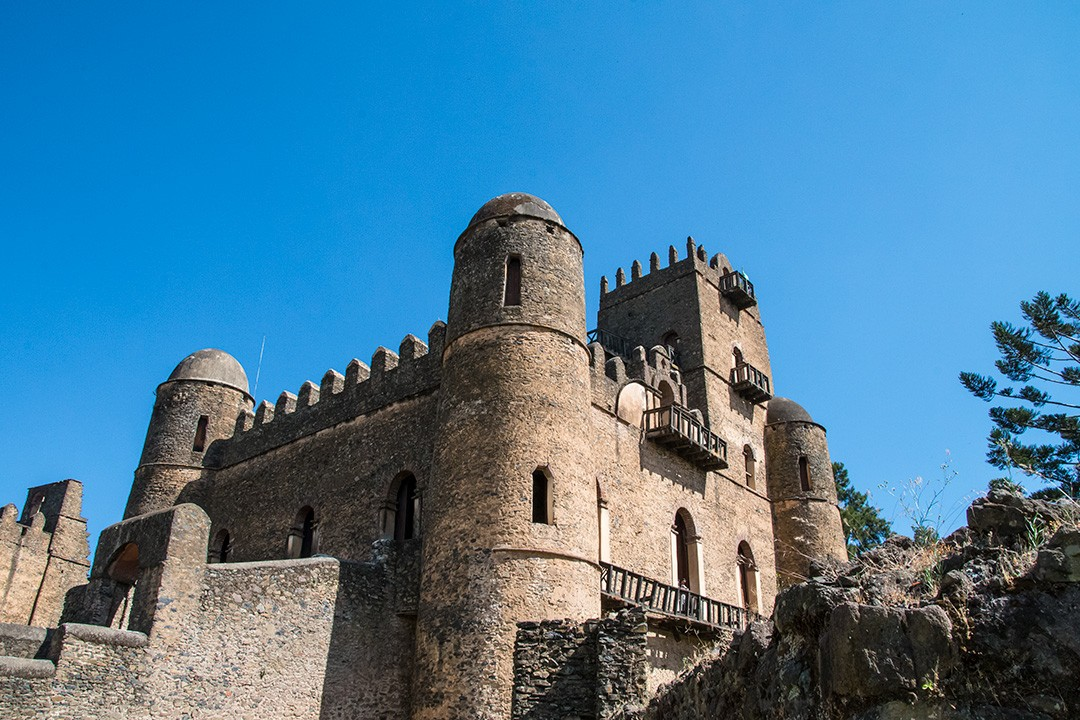 Gondar castle in the fortress city of Fasil Ghebbi