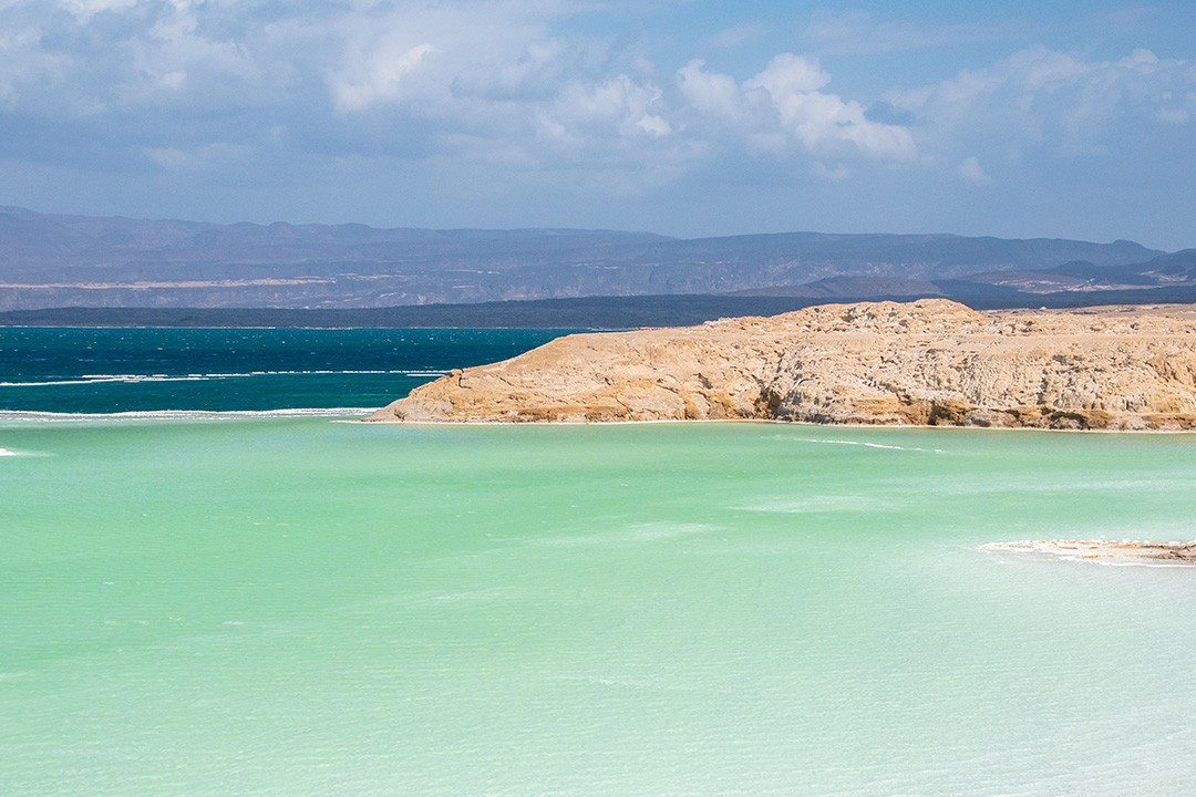 Typical scenes of Lac Assal in Djibouti