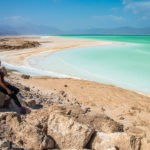 First glimpse of Lac Assal in Djibouti
