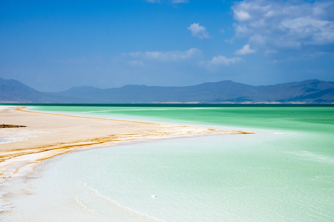 Lac Assal in Djibouti could be mistaken for a Maldivian beach