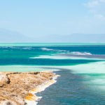 Lac Assal in Djibouti from a viewpoint