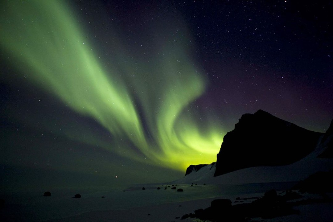 Where to see the southern lights: Antarctica