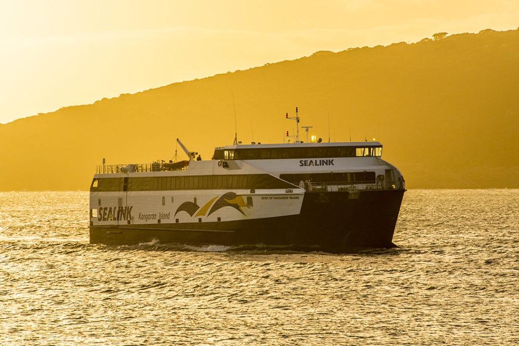 Things to do on Kangaroo Island sealink ferry at sunset