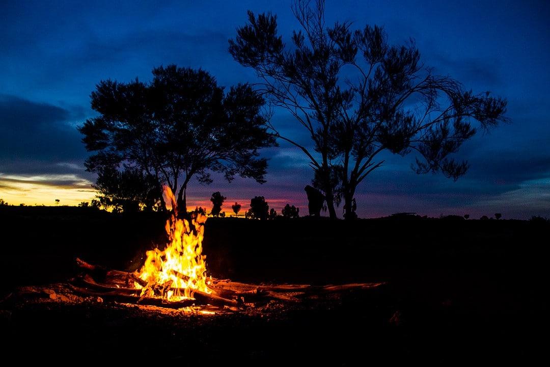 Our campsite in the Australian outback Uluru Rock Tour