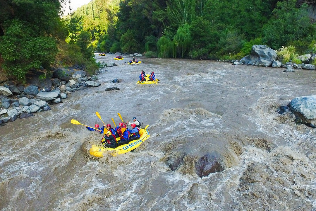 Rafting is one of the most popular outdoor activities in Chile