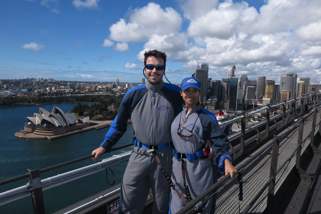 Atop the Sydney Harbour Bridge