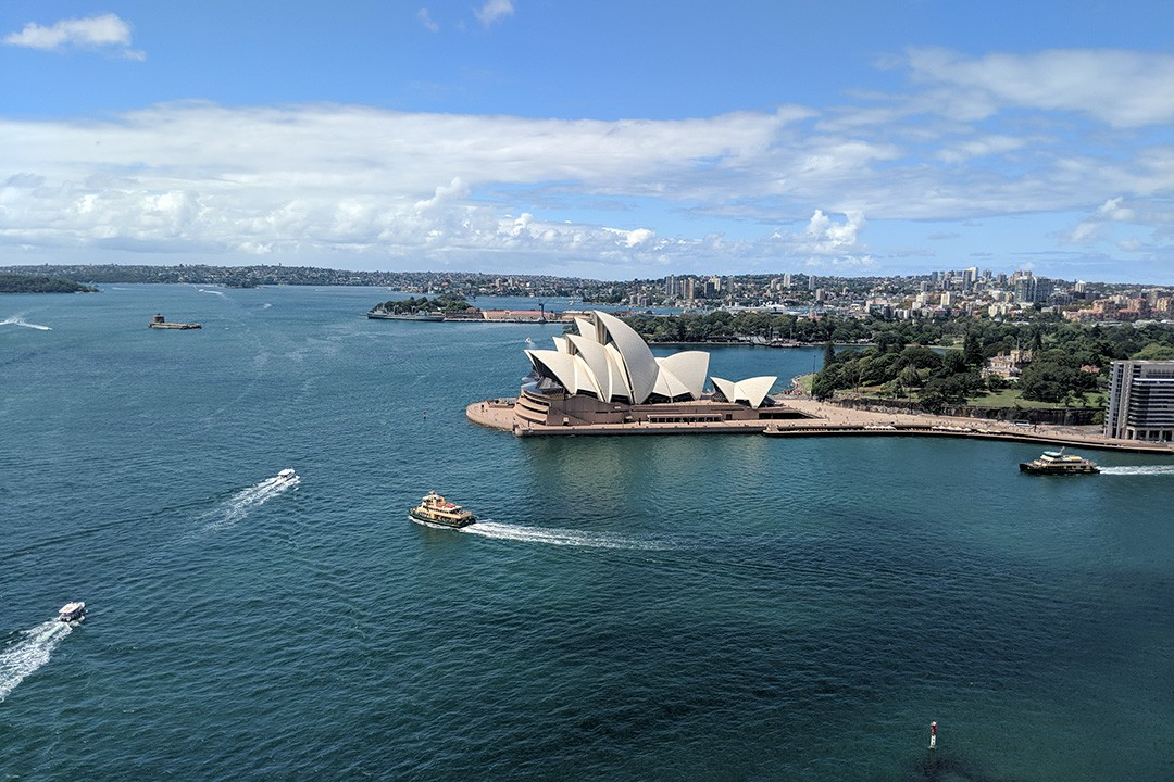 Views from the Sydney Bridge Climb