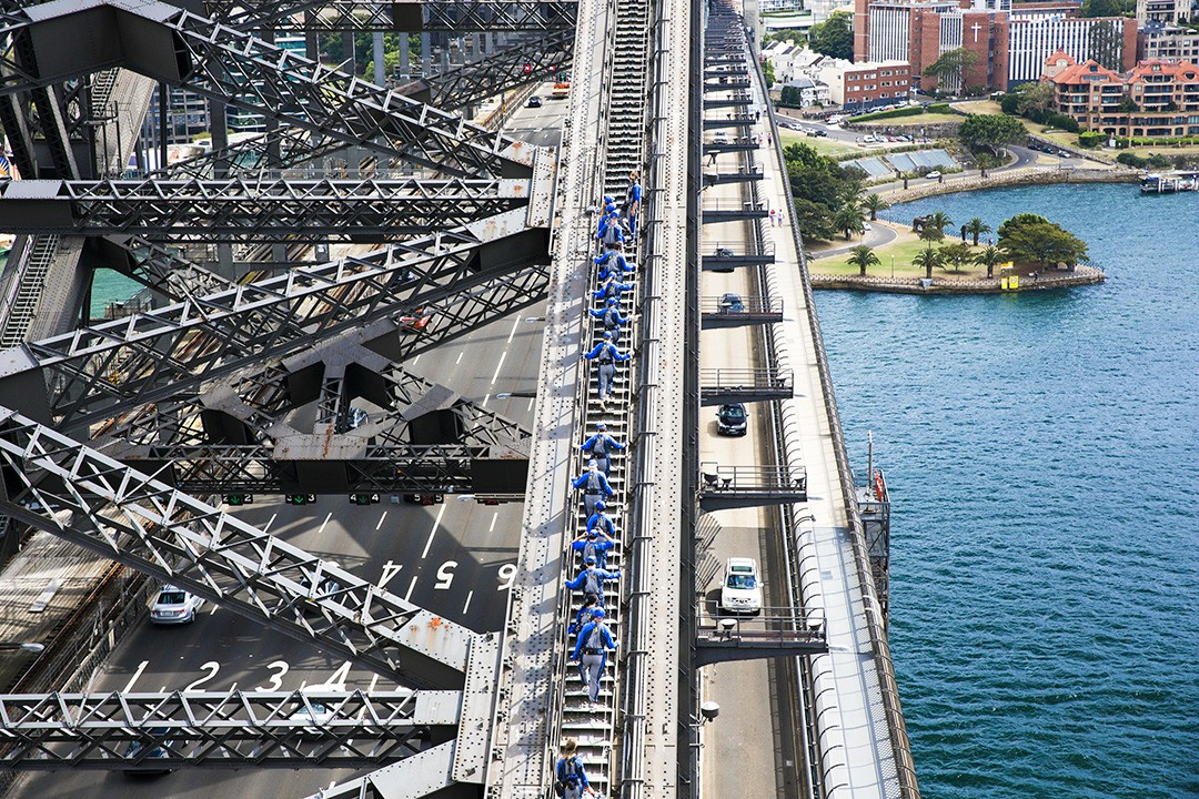 Most climbers find the Sydney Bridge Climb easier than feared