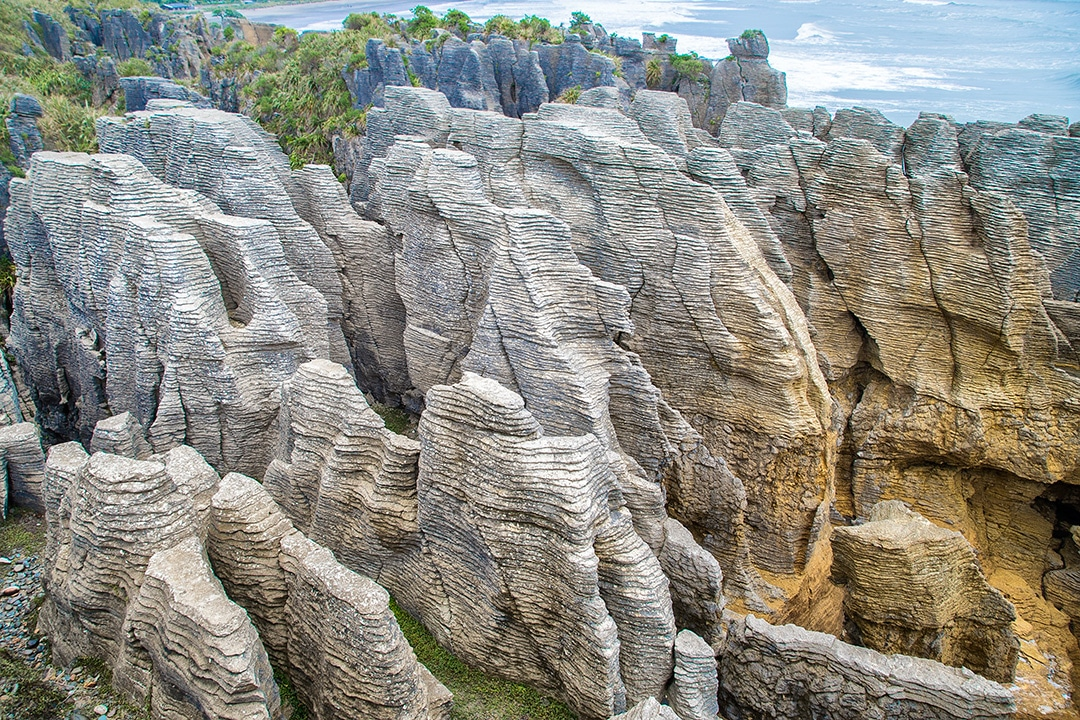 south island short walks Pancake Rocks